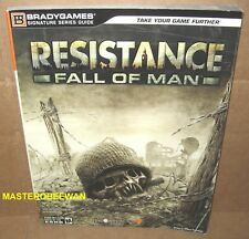 Resistance: Fall of Man Official Strategy Guide Book + 2-Sided Fallout PS3 New