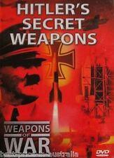 WEAPONS OF WAR - Hitler's Secret Weapons DVD + BOOK WORLD WAR TWO BRAND NEW R0