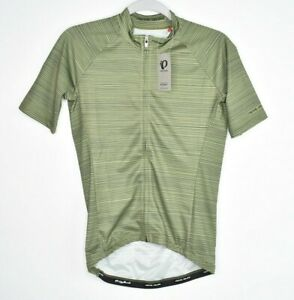 NEW PEARL IZUMI Elite Short Sleeve Jersey MEN's SMALL Green Full Zip $125