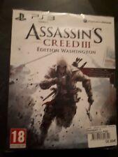 Assassins Creed 3 version collector edition Washington PS3 NEUF scellé blister
