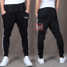 Mens Skinny Casual Jogger Pants Sports Slim Fit Hip Hop Fringe Jogging Trousers