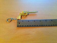 Revolver (Gold Color) - Metal Keychain Gun Key Chains (KC2)