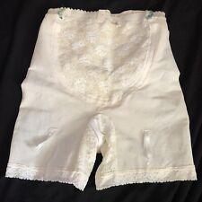 Deadstock Antique Vintage 30's 40's Girdle Floral Lace Shorts Flexnit As-Is