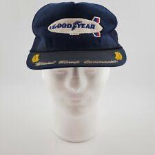 Vintage Goodyear Blimp Commander Trucker Hat Mesh Swingster USA Made Rare