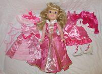 Disney Princess & MeAurora Sleeping BeautyDoll 18 Tea Holiday Dress Outfit Lot