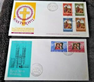 St Kitts Nevis Anguilla 1972 Easter and Silver Wedding First Day Covers