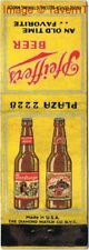 1930s Detroit Michigan Pfeiffer'S Beer Matchcover Tavern Trove
