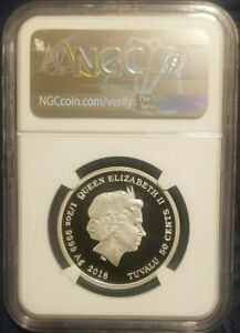 2018 LOONEY TUNES 1/2 OZ. SERIES - DAFFY DUCK - NGC PF70 SPECIAL ISLAND LABEL