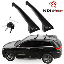 For 2011-2018 Jeep Grand Cherokee Black Top Roof Rack Cross Bar Cargo Luggage