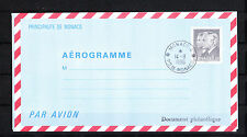 MONACO   entier postal  aérogramme  3f70  noir   de 1986  oblitéré