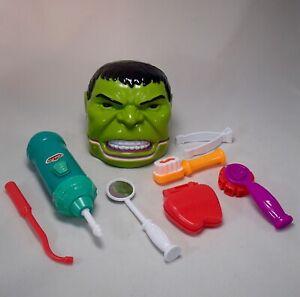 RARE Green INCREDIBLE HULK Dental dentist Play-Doh KO giant head toy mold figure