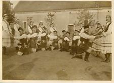 Janvier 1940, fête franco-polonaise Vintage silver print Tirage argentique