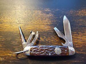 Vintage Remington RS3333 Boy Scout Circle Shield Used Excellent Bone Handle