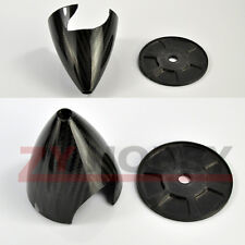 "Black Carbon Fiber Spinner 4"" For RC Airplane 2 Blades Propeller"