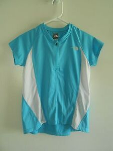 The North Face Cycling top - Girl's Large - Aqua Blue