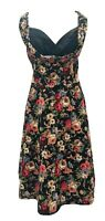 Lindy Bop Size 14 Tapestry Style Fit N Flare Rockabilly 1950's Retro Dress