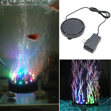 Colorful Aquarium Fish Tank LED Bubble Lights Stone Lamp Underwater Submersible