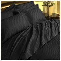 Complete Bedding Items 1000TC/1200TC Egyptian Cotton AU-Size Black Striped