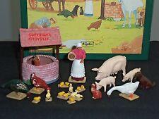 BRITAINS 8705 HOME FARM FARMYARD ANIMAL WELL DUCKS METAL CIVILIAN FIGURE SET