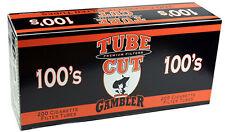 50 (Fifty) Gambler Tube Cut Full Flavor 100mm Cigarette Tubes 200ct box RYO