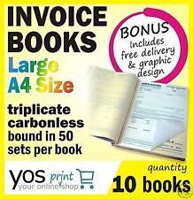 10 x Printed QUOTE / TAX INVOICE Books **FREE POST**
