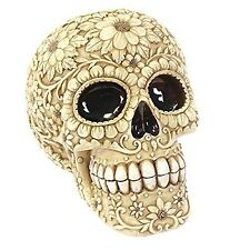 Floral Candy Skull Money Coin Box Saving Ornament Gift DAY OF THE DEAD Halloween