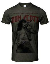 Bon Scott tribute men`s t shirt music rocker heavy rock singer band icon legend