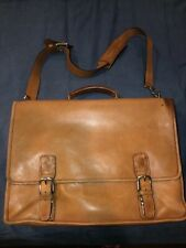 Coach Leather Tan Laptop Briefcase Organizer-  #5310 Vintage