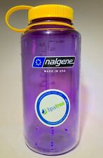 Nalgene 32 oz wide mouth bottle - NEW COLOR COMBO- Purple Bottle/Yellow Cap