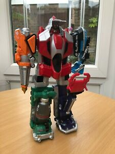 Power Ranger Operation Overdrive Dual Max Megazord zords to robot toys