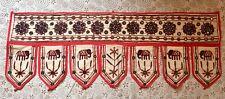 White/Embroidered/Mirrored/Over Door/Window/Handmade/Indian:Wall Hanging/Toran