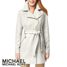 Michael Kors Asymmetrical-Zip Walker Coat