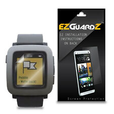 3X Ezguardz Lcd Screen Protector Skin Hd 3X For Pebble Time Smartwatch (Clear)