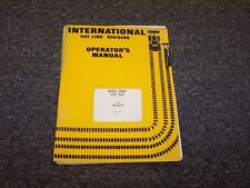 International Harvester 3964B Payhoe Excavator Owner Operator Maintenance Manual