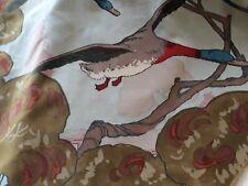 """MULBERRY FABRIC 'FLYING DUCKS - SKY' - COTTON VELVET - 54"""" wide x 51"""" long"""