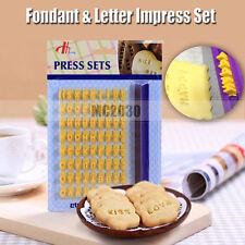 Fondant Cake Alphabet Letter Number Cookies Biscuit Stamp Embosser Mold Go