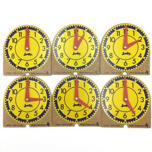 Judy Instructo 6 MINI CLOCKS Classroom Homeschool Analog Time Teaching Set