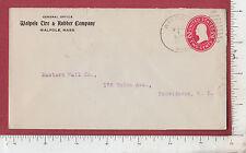 9229 Walpole Tire & Rubber Co MA 1912 postal cover Eastern Nail Providence RI