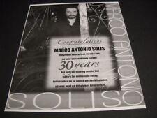 MARCO ANTONIO SOLIS Extraordinary 30 Year Career music & poetry 2006 Promo Ad