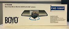 "BOYO VTR50M 360 Degree Camera on 5"" Mirror Monitor built in DVR  2 Cams NEW L@@K"