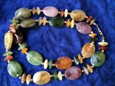 Vintage Plastic Bakelite era Lucite Necklace Colorful Multi color End of day