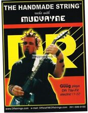 2003 Dr Guitar Strings GÜÜG of Mudvayne Vtg Print Ad