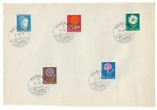 SWITZERLAND HELVETIA 1963 PRO JUVENTUTE SET OF 5 ON PAPER PARPAN CANCEL