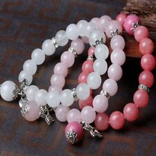 Stretchy Agate Round Jewelry Natural Stone Heart Bracelet Beads Bangle Beaded