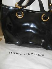 Marc Jacobs Black PVC Coated Leather Tote w/ leather handles X Large, Italy, EUC