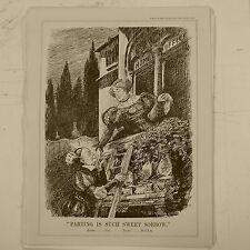 "7x10"" punch cartoon 1929 PARTING IS SUCH SWEET SORROW romeo jix juliet d.o.r.a."