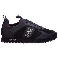 Emporio Armani EA7 sneakers men X8X027XK173P962 Triple Night leather shoes