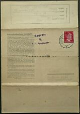 More details for germany 23 jan 1943 auschwitz concentration camp letter sent to krakau, poland
