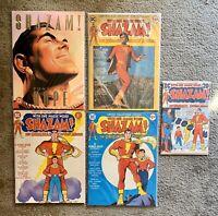 SHAZAM! ORIGINAL CAPTAIN MARVEL Lot Of 5 1973-75 DC Comics- Collectors Editions