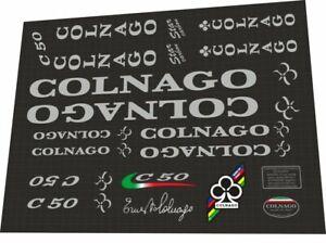 COLNAGO C50 FRAME DECAL SET LIGHT GRAY